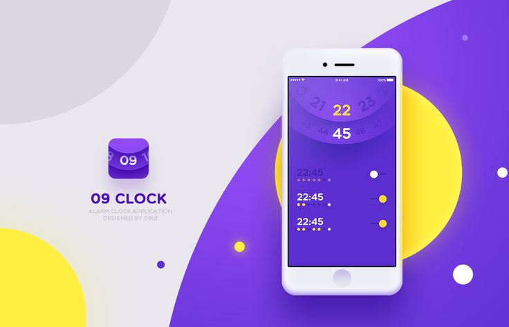 UI Inspiration: 09 Alarm Clock | Abduzeedo Design Inspiration