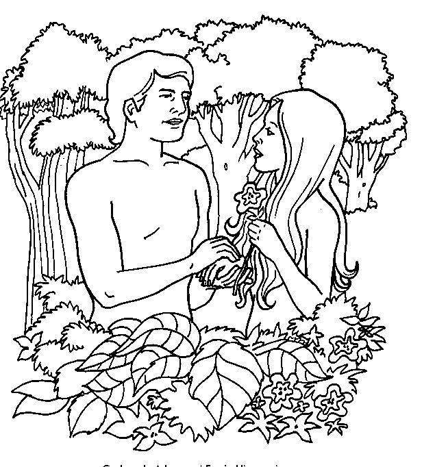 adam_and_eve_coloring_pages_012 - Coloring Pages ABC Kids Fun Page