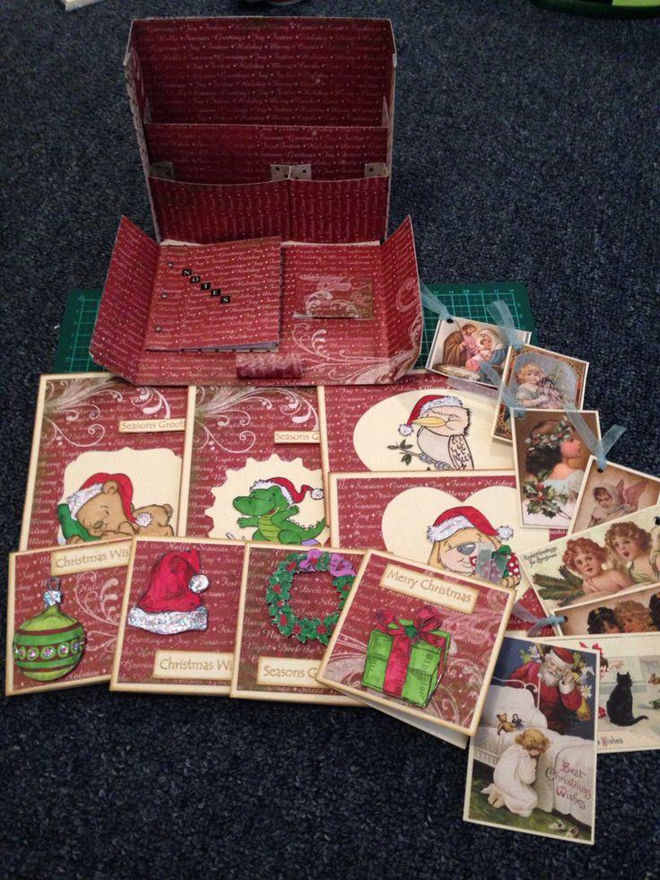 Christmas Stationery Box Inspired by Kaszazz