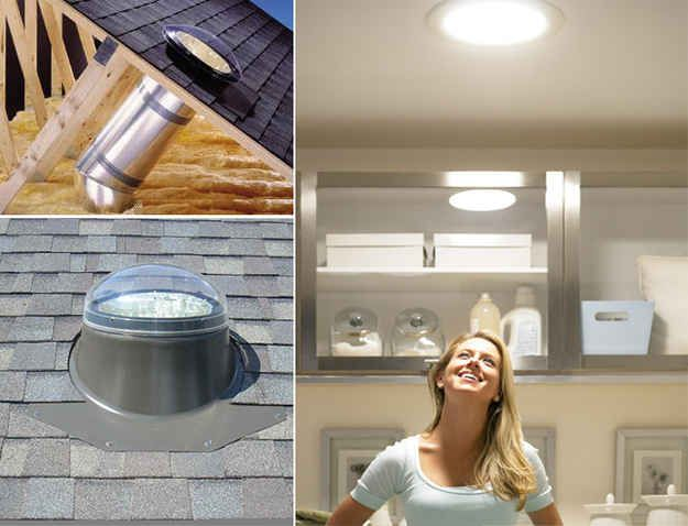 Missing a skylight? Get a Sun Tunnel.   33 Insanely Clever Upgrades To Make To Your Home