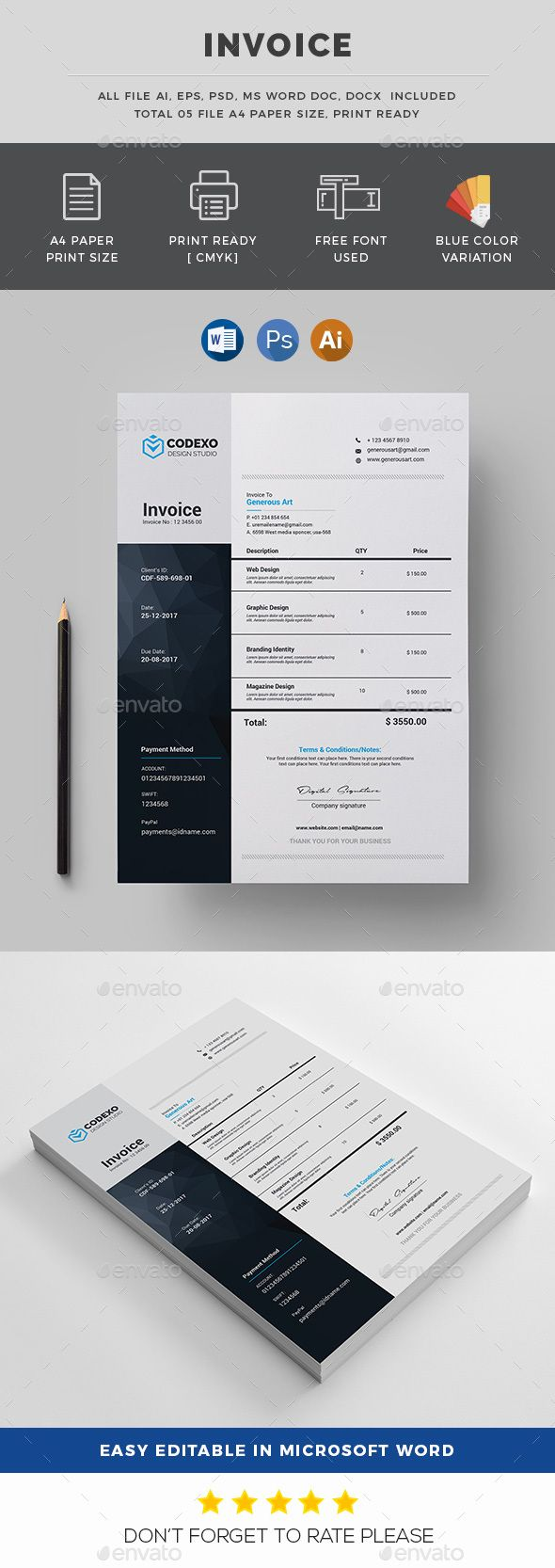 142 best Invoice Template images on Pinterest | Invoice template ...
