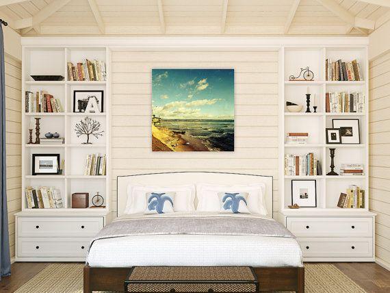 santa cruz beach photography // large canvas // beach art -  Pleasure Point, photograph on large canvas