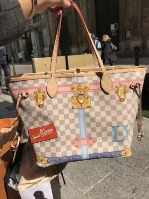 245495e6d140 Louis Vuitton Trunk City Neverfull MM Bag N41065