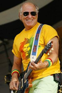 Jimmy Buffett - longstanding tropical folk rocker; his huge fan base called parrotheads love the biographical songs about fun in the sun and cold beverages.