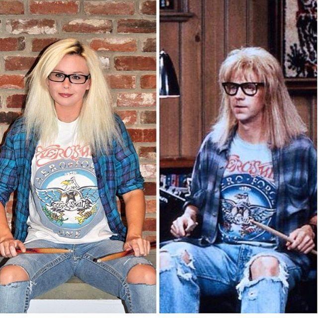 Garth from Wayne's World.  #costume #halloween #casualcostume #waynesworld #90s…