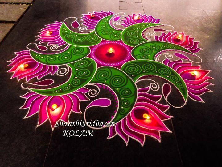 #lotus#pink#green#mandala#round#circle