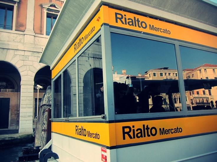 """Vaporetto stop """"Rialto Mercato"""" (Linea n°1) right around the corner of Hotel Pensione Guerrato in Venice, Italy."""