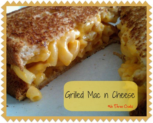 This is a great kid friendly lunch. It also could be served with sliced apples and a bowl of soup for dinner. Grilled Mac n Cheese
