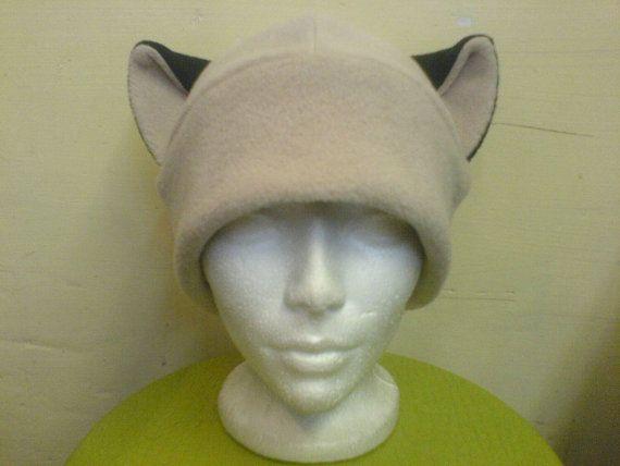 Siamese cat Siamese ears hat cat ears hat cat hat ears by qwear01
