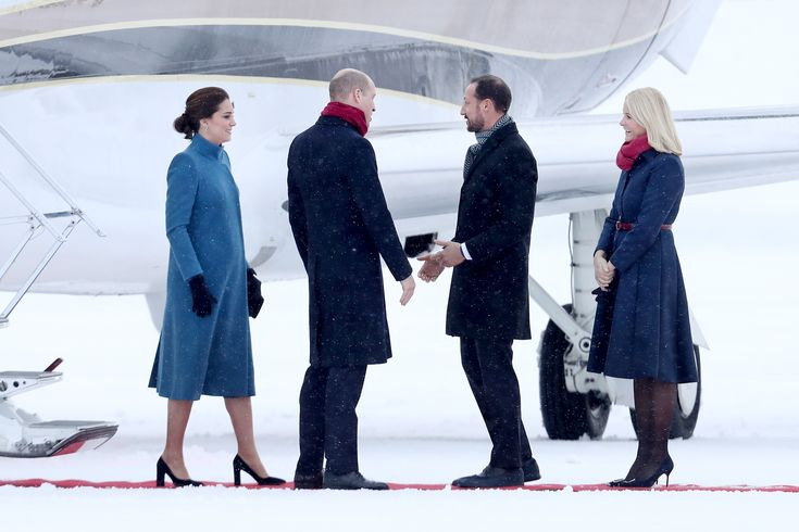 Pregnant Kate Middleton and Norway's Mette-Marit Look Like Disney Princess Sisters | Pregnant Kate Middleton looked like a stylish Elsa in blue while meeting Scandinavian Princess Mette-Marit, who was channeling Anna. See the Disney-worthy photos of them here.
