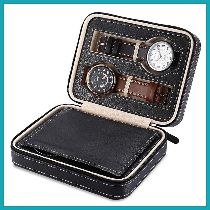 Hot Sale 4 Grids PU Leather Watch Box Jewelry Storage Case Watch Display Box caja reloj Container Jewelry Organizer