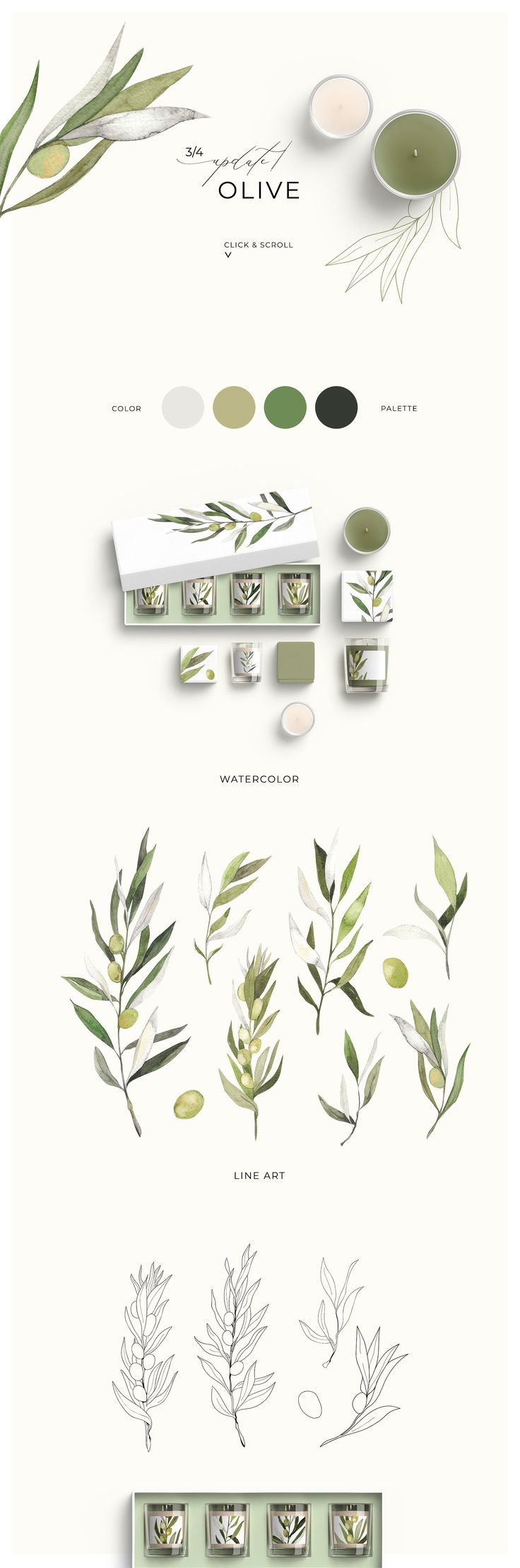 -30% TRENDY GREENERY +UPD  by Lana Elanor on Creative Market – Lana Elanor
