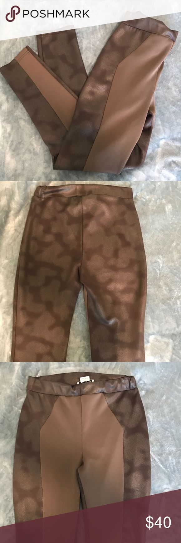 Jus d'Orange brown legging pants for size 29 Jus d'Orange legging pants in brown extremely comfortable material gentle use looks brand new Pants Skinny