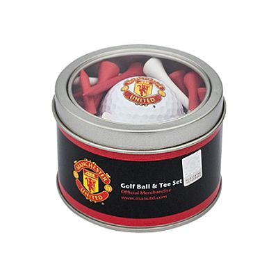 MANCHESTER UNITED Golf Ball & Tee Set. Golf Ball. Wooden Tees. Official Licensed Man United Gift. FREE DELIVERY ON ALL OF OUR GIFTS