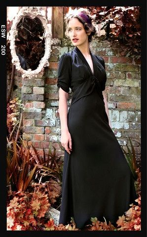Classic black crepe Sable dress from Nancy mac -aw2013