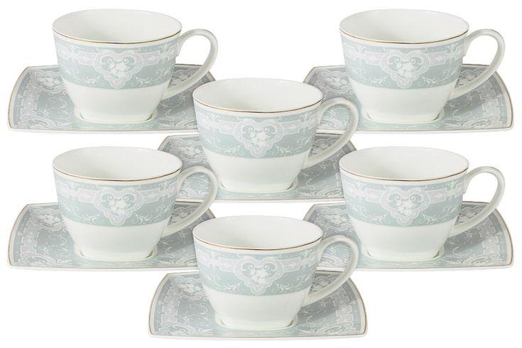 Чайный набор из костяного фарфора на 2 персоны «Инфанта»  (голубая)       Бренд: Anna Lafarg;   Страна производства: Китай;   Материал: костяной фарфор;   Коллекция: Инфанта;   Количество персон: 6;   Количество предметов: 12 шт;   Объем чашки: 200 мл;          #bonechine #chine #diningset #teaset #костяной #фарфор #обеденный #сервиз #посуда  #обеденныйсервиз #чайныйсервиз #чайный  #чашка #кружка #набор #сервировка #cup #mug #set #serving #tea #чай