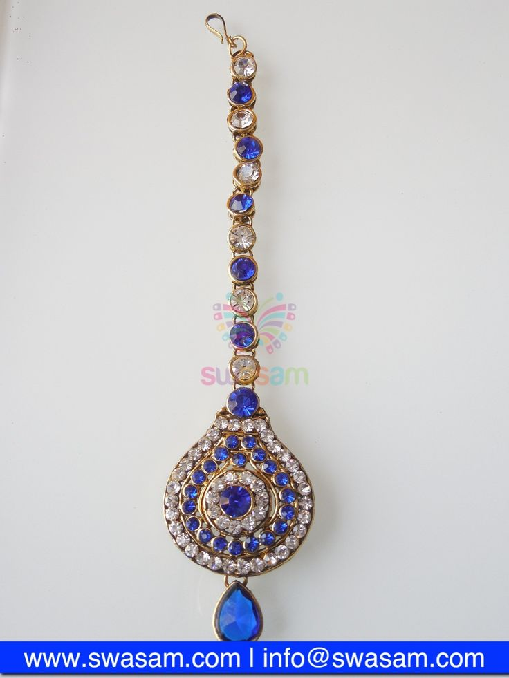 Indian Jewelry Store | Swasam.com: Tikka with Perls and White Stones - Tikka - Jewelry Shop to Buy The Best Indian Jewelry  http://www.swasam.com/jewelry/tikka/tikka-with-perls-and-white-stones-1301.html?___SID=U  #indianjewelry #indian #jewelry #tikka