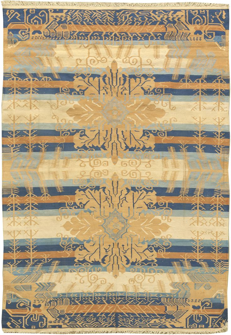 Vintage Rugs: Vintage Rug Dhurrie for modern or oriental interior decor living room, rug with geometric pattern