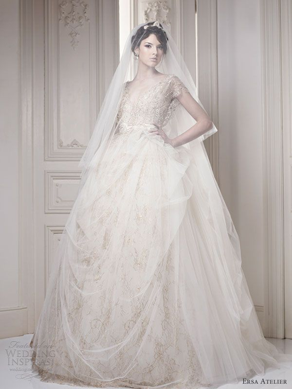 "Ersa Atelier 2013 bridal collection. Inspired by European aristocratic style, the collection entitled ""Make Way for the Queen"""