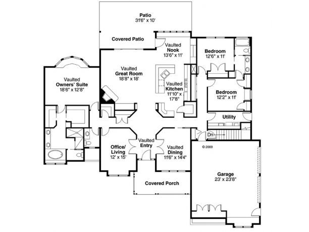 52 best house plans images on pinterest home plans home for Half basement house plans