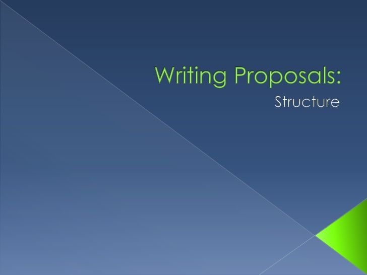 How to write a proposal - template