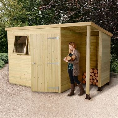 7x5 shed republic ultimate heavy duty shed single door on right with 3 logstore