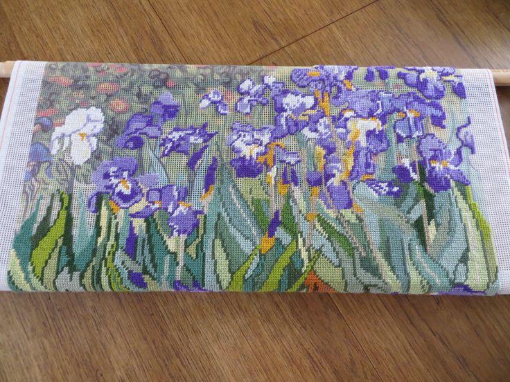 Tapestry of Van Gogh Irises 1.