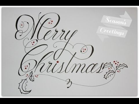 how to write merry christmas in cursive and fancy - YouTube