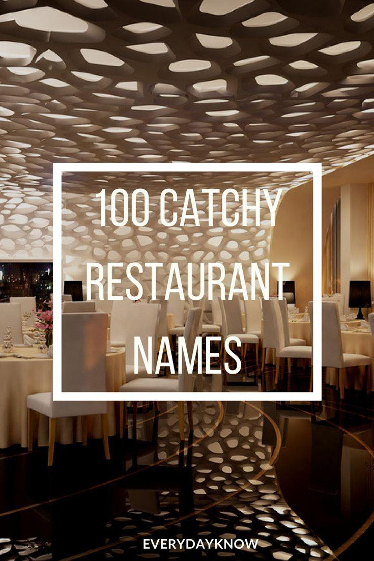 100 Catchy Restaurant Names Food Restaurant Names Cafe