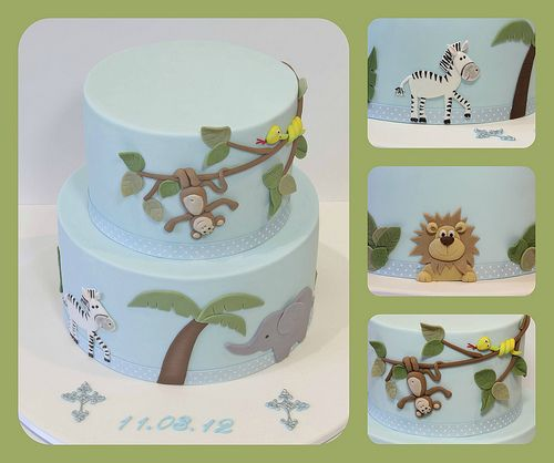 Jungle Christening cake | Flickr - Photo Sharing!