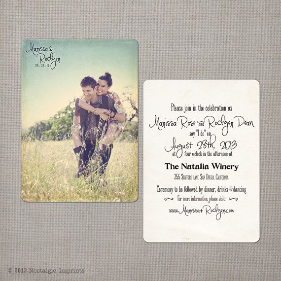 "reserved for sandid8 - Vintage Wedding Invitation & RSVP - the ""Marissa"""