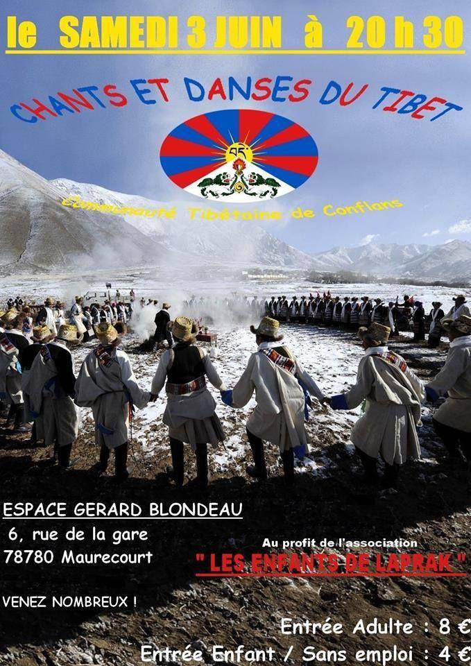 """LE GRAND CONCERT DES TIBÉTAINS DE CONFLANS ST HONORINE  AU PROFIT DE L'ASSOCIATION """"LES ENFANTS DE LAPRAK"""" (Népal)"""