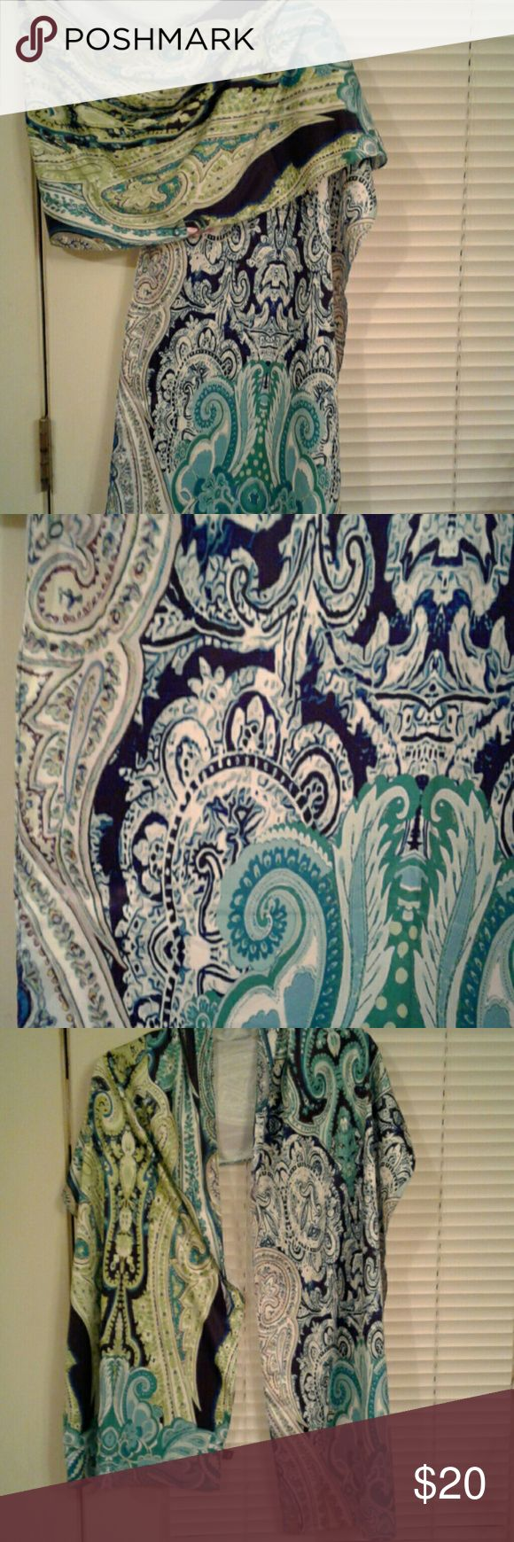 NWOT Echo Scarf-FREE WITH  $40 OR > PURCHASE Gorgeous Echo multicolored paisley scarf.  It is beautiful!  Mostly greens and blues with some lavender.  Would make a great gift for yourself or a friend. ☃  One scarf free with a $40 or more purchase.  ☺ Echo Accessories Scarves & Wraps