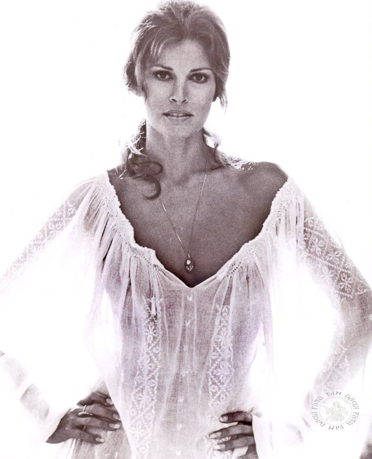raquel welch wearing the romanian blouse