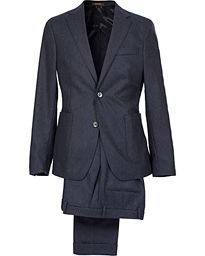 Oscar Jacobson Einar Flannel Suit Ink Blue