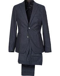 Oscar Jacobson Einar Flannel Suit Ink Blue