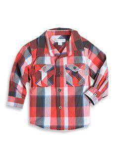 Long sleeve check shirt for my little farmer.  #patchholidayfun