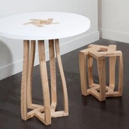 Pentagon System series of tables and stools by Itamar Burstein