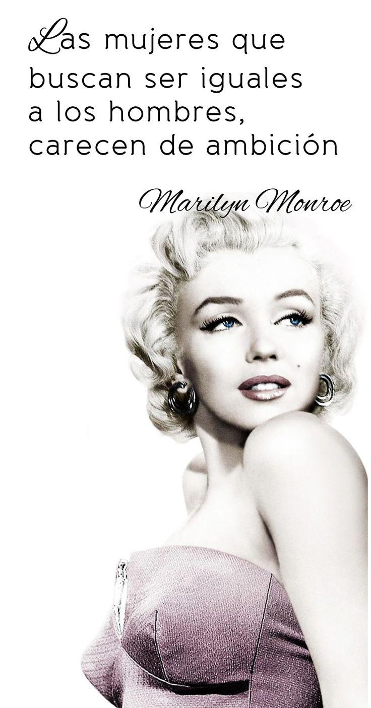 Frase de Marilyn Monroe: Las mujeres que buscan ser iguales a los hombres carecen de ambición.