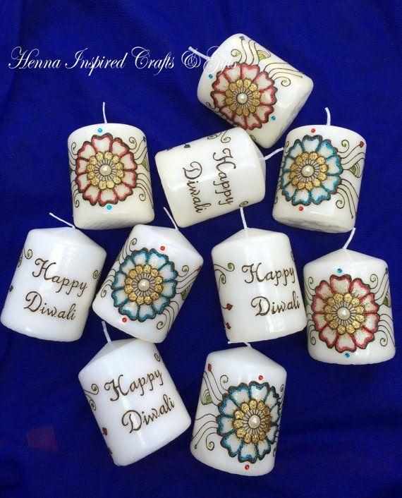 Set of 10 DIWALI Candles, Diwali Candles, Indian Festival, Diwali Gift, Diwali Decor, Diwali Decoration, Festival of Lights, Hindu Festivals