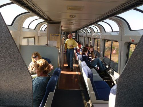 This is an incredible trip by rail-Amtrak Califonia Zephyr - observation car sightseer lounge