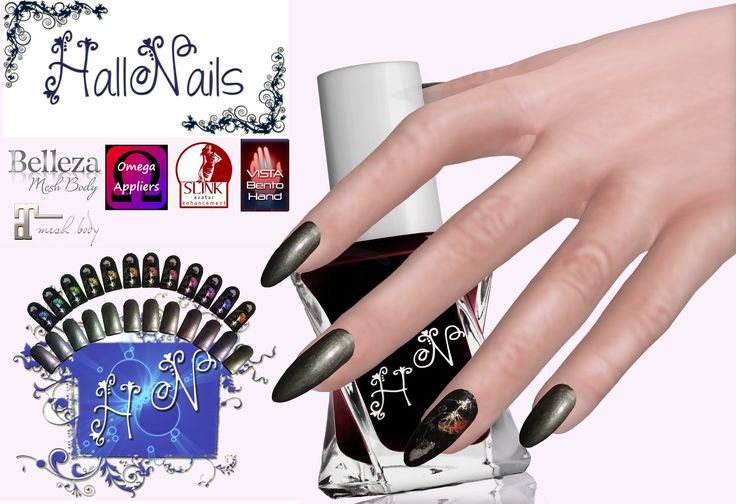 https://flic.kr/p/VPt5Yt | hallnails fiore dorato new release | A new hud lets you have fun choosing your Slink or Vista nail one by one and creating an original nail art.  Sadly the hands Bellezza and Matreya do not allow to choose the nails one by one. But for beauty, you have 2 different types of nails available. While for nails Matreya nail art is already created.  Good fun!!  maps.secondlife.com/secondlife/Waterton/175/149/304   marketplace.secondlife.com/stores/61055