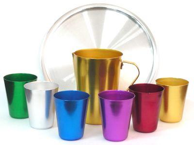 Vasos de aluminio en Colores Amigos del Hogar / La Tradición en Artículos para…