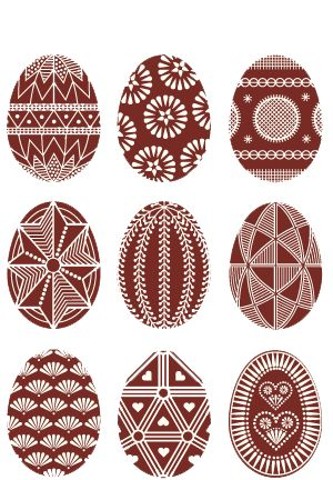 Pisanki: Polish decorated Easter eggs