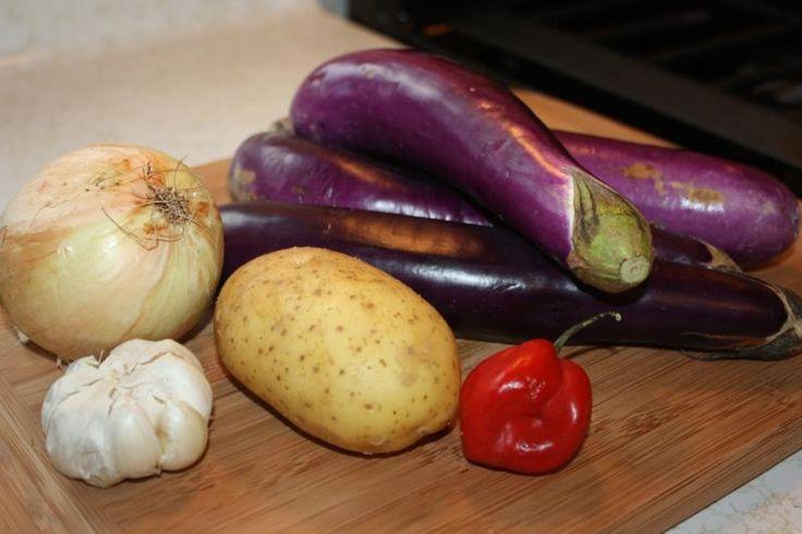 Eggplant With Potatoes A Classic Vegetarian Dish.