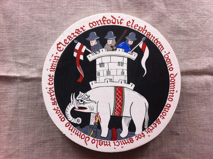 Pudełko wzorowane na szwajcarskim manuskrypcie: http://www.pinterest.com/pin/478929741593019165/ z łacińską sentencją: Bono domino quot servi tot amici, malo domino quot servi tot inimici – Dobry pan ilu ma niewolników, tylu też przyjaciół, zły zaś pan ilu ma niewolników, tylu wrogów