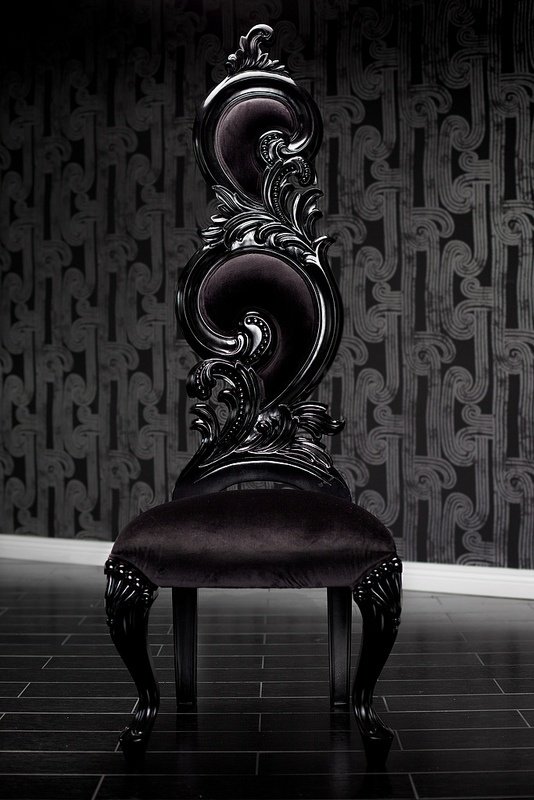 Black Velvet Baroque High Back Chair Amazing Imagine These Around A Long Dinning Table Not Generally My Style But This Is Beautiful