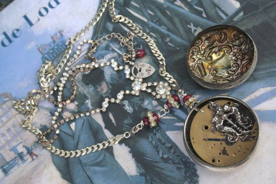 Assemblage Necklace Assemblage jewelry Old Pocket by IRISHTREASURE