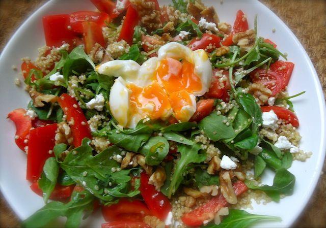 Goed Gevulde Quinoa Salade met Ei