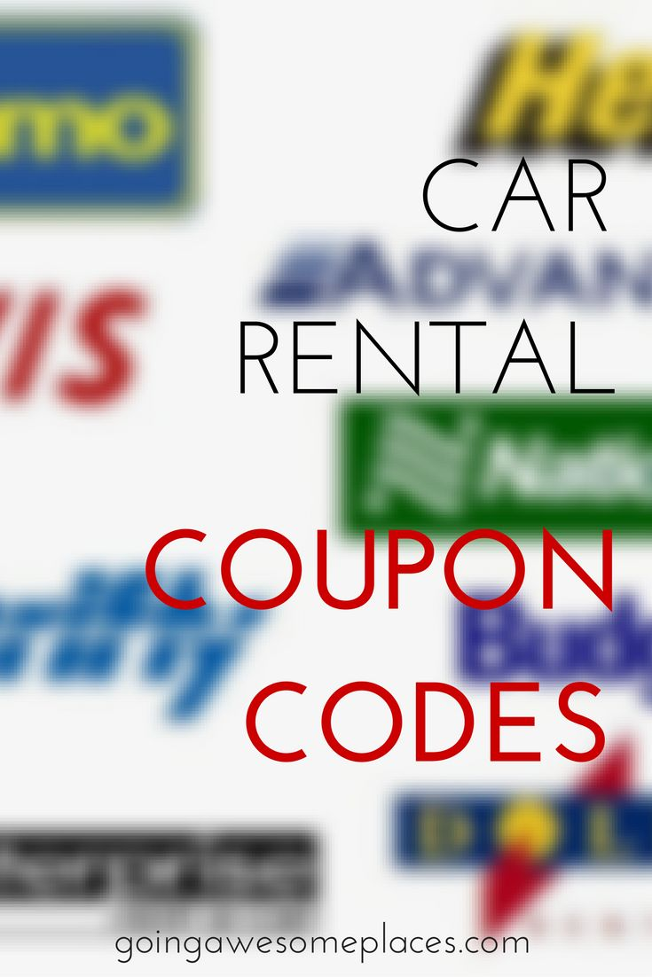 Car rental coupon codes to save you lots of money when travelling. via @goawesomplaces
